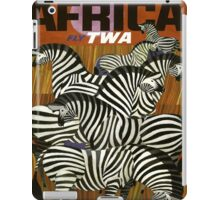 Africa Fly TWA Travel Poster ~ Vintage Airline Zeebras ~ 0560 iPad Case/Skin