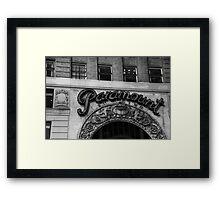 paramount hard rock building - nyc Framed Print