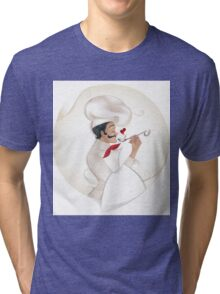 Chef illustration Tri-blend T-Shirt