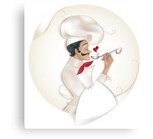 Chef illustration Canvas Print