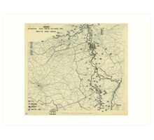 World War II Twelfth Army Group Situation Map October 19 1944 Art Print