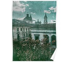 Colonial Architecture at Historic Center of Bogota Colombia Poster