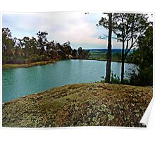 Oakley Dam and Falls  Dwellingup, Western Australia. Darling Ranges. Poster
