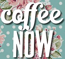 Polka Dot Floral Coffee Now by SailorMeg