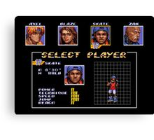 Streets of Rage 3 – Select Skate Canvas Print