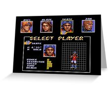 Streets of Rage 3 – Select Skate Greeting Card