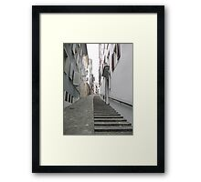 Zurich's lonely stairs Framed Print