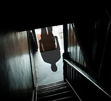 Shadow on the stairs by Barry James Roberts
