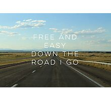 Free and Easy Photographic Print