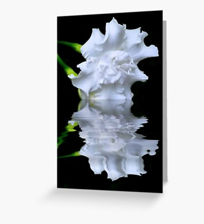 Dipped White Greeting Card