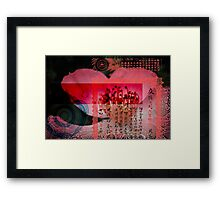 Translucent Layers Rose Blossoms Magnify Framed Print