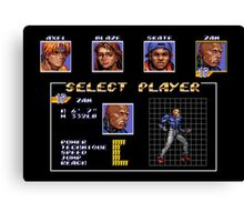 Streets of Rage 3 – Select Zan Canvas Print