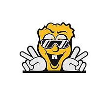 handzeichen fun cool face sunglasses victory peace Photographic Print