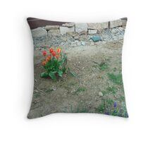 Small Clump of Tulips Throw Pillow