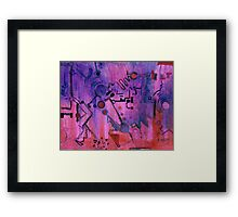 Puzzle in purple Framed Print
