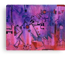 Puzzle in purple Canvas Print