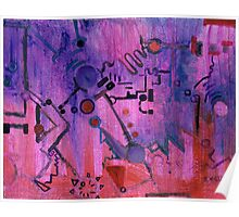 Puzzle in purple Poster
