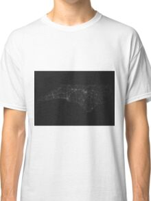 Roads of North Carolina. (White on black) Classic T-Shirt