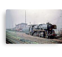 Behind the Iron Curtain: Russian Red Star Train  Canvas Print