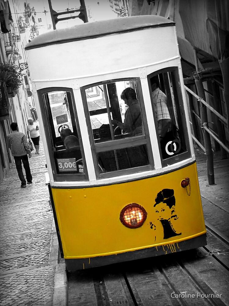 Taking the Tram with Audrey Hepburn by Caroline Fournier