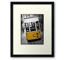 Taking the Tram with Audrey Hepburn Framed Print