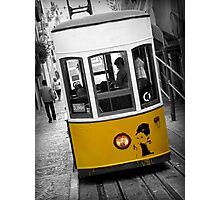 Taking the Tram with Audrey Hepburn Photographic Print