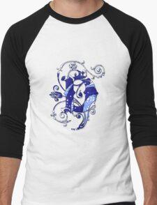 Surfin' Waves Alpha 'D' Men's Baseball ¾ T-Shirt