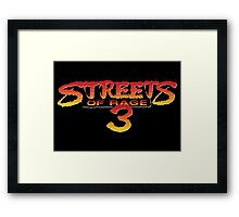 Streets of Rage 3 – Title Screen Framed Print