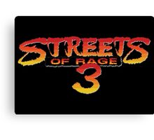 Streets of Rage 3 – Title Screen Canvas Print