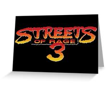 Streets of Rage 3 – Title Screen Greeting Card