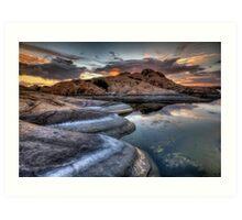 1 2 3 Sunset Art Print