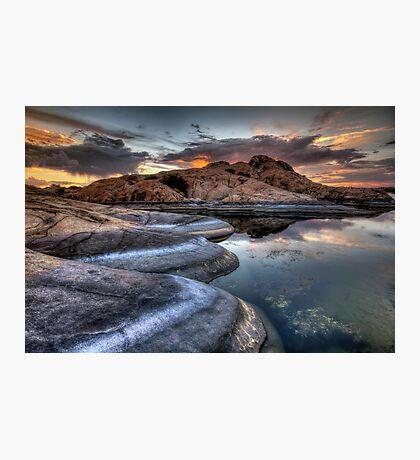 1 2 3 Sunset Photographic Print