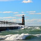 Manistee Lighthouse by Debbie  Maglothin