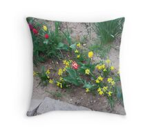 Large Tulips And Small Daffodils Throw Pillow