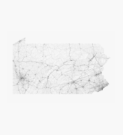 Roads of Pennsylvania. (Black on white) Photographic Print