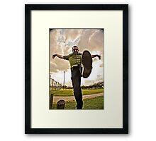 Crane Kick Hoopla  Framed Print