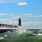 Manistee Lighthouse 2 by Debbie  Maglothin