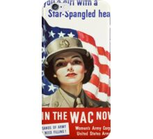 Army Nurse Recruiting Vintage Poster ~ Join the WAC Now! ~ World War 2 WWII ~ 0580 iPhone Case/Skin