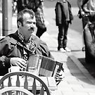 accordion player - North Road, Brighton by Andy James