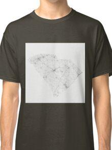 Roads of South Carolina. (Black on white) Classic T-Shirt