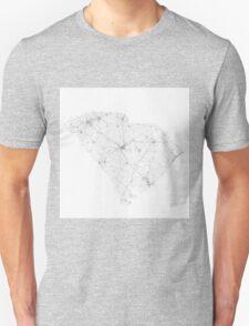 Roads of South Carolina. (Black on white) Unisex T-Shirt