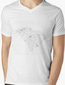 Roads of South Carolina. (Black on white) Mens V-Neck T-Shirt