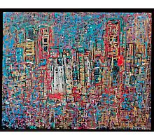 Abstract Marker Drawing of City by Chicago Artist Gary Bradley Photographic Print