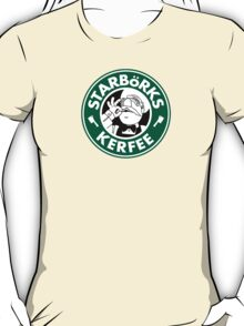 'Starbörks Kerfee' - Smaller Logo (Starbucks / The Swedish Chef) T-Shirt
