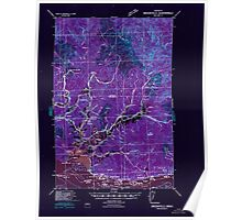 USGS Topo Map Washington Brookfield 240240 1940 62500 Inverted Poster