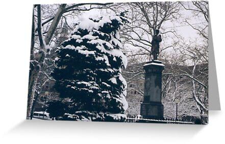 Hoboken, New Jersey, View in Wet Snow by lenspiro