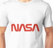 NASA Red Worm Logo Unisex T-Shirt