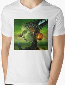 Lamp Woman Mens V-Neck T-Shirt