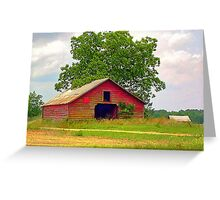 Red Barn - HDR Greeting Card