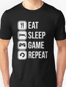 Eat Sleep Game Repeat T-Shirt